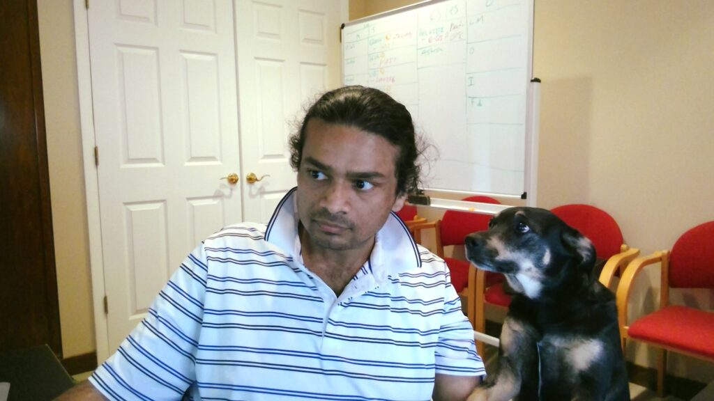 Galaxy Supervising Rahul's work on the blog.